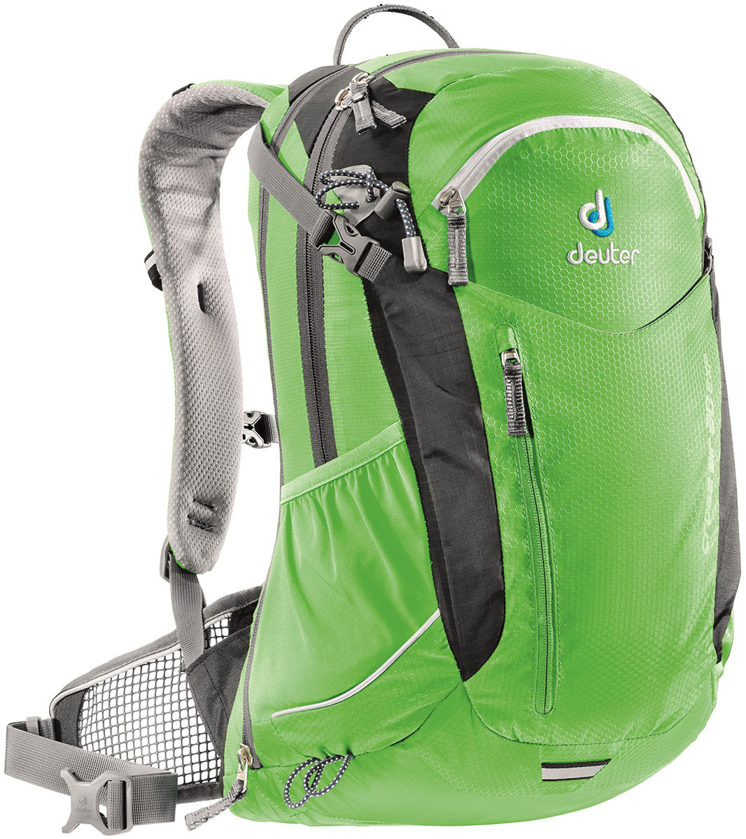 Рюкзак Deuter Cross Air 20 EXP, цвет: зеленый, 20 лZ90 blackМногофункциональный велосипедный рюкзак Deuter Cross Air EXP для продолжительных однодневных поездок. У рюкзака элегантный дизайн, плотно прилегающая форма и практичная надставка с молнией для увеличения объема. Отличная вентиляция благодаря конструкции спинки Deuter Advanced Aircomfort. Особенности Deuter Aircontact PRO 60+15: - в практичный сетчатый карман можно положить куртку или шлем; - два наружных кармана; - боковые сетчатые карманы; - карман для влажной одежды; - органайзер; - внутренний карман для ценных вещей. Вес: 1100 г. Объем: 18+4 л. Размер: 47 х 34 х 20 см.
