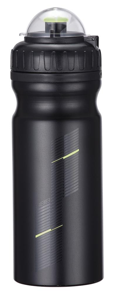 Бутылка для воды BBB AluTank, велосипедная, цвет: черный, 680 млBWB-01Бутылка для воды BBB AluTank изготовлена из высококачественного алюминия, безопасного для здоровья. Закручивающаяся крышка с герметичным клапаном для питья обеспечивает защиту от проливания. Оптимальный объем бутылки позволяет взять небольшую порцию напитка. Она легко помещается в сумке или рюкзаке и всегда будет под рукой. Такая идеальная бутылка небольшого размера, но отличной вместимости наполняет оптимизмом, даря заряд позитива и хорошего настроения. Бутылка для воды - отличное решение для прогулки, пикника, автомобильной поездки, занятий спортом и фитнесом.