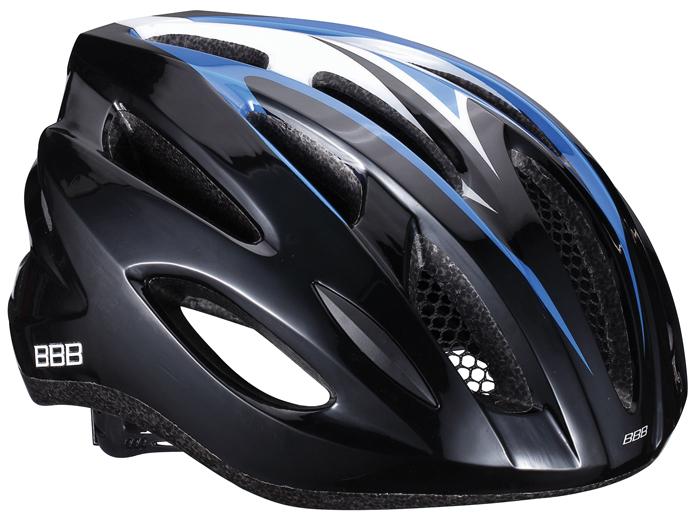 Летний шлем BBB Condor, цвет: черный, синий. Размер MPWH-40Размер шлема: 54-58 см.