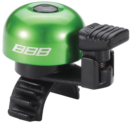 Звонок велосипедный BBB EasyFit, цвет: зеленыйBBB-12Легкий звонок BBB EasyFit выполнен из прочного металла и оснащен пластиковым молоточком. Можно устанавливать в любом положении. Простое крепление подходит ко всем диаметрам рулей. Звонок легко ставить и снимать.