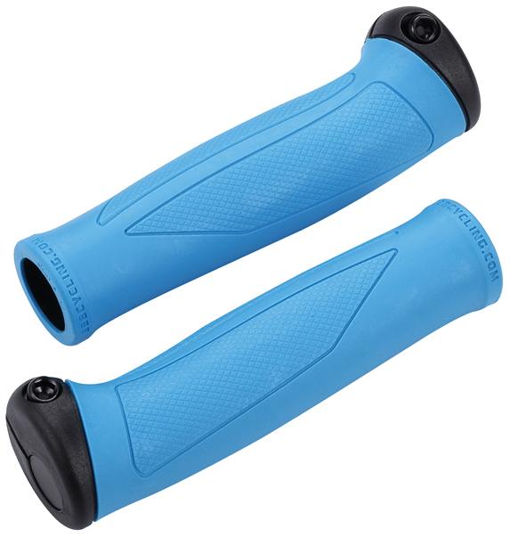 Грипсы BBB SlimFix, цвет: синий, черный, 135 мм, 2 штBHG-72Грипсы BBB SlimFix обладают большой площадью поверхности, которая равномерно распределяет давление по ладони и значительно улучшает комфорт расположения рук на руле. Фиксирующий хомут на внешней стороне грипс выполняют роль защиты рук в случае падения. Заглушка торца руля интегрирована в хомут для отличного внешнего вида и ликвидации выступающих элементов конструкции. Центральная часть изделия сделана из липкой резины Kraton. Форма грипс адаптирована под естественный хват рук и снимает нагрузку с локтевого нерва при условии, что вы правильно их установили.