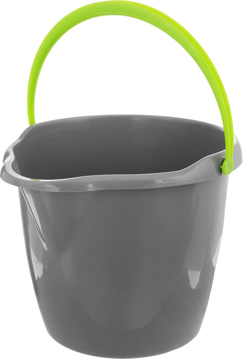 Ведро York, круглое, с носиком, цвет: серый, салатовый, 12 л7105_серый, салатовыйКруглое ведро York изготовлено из высококачественного пластика. Оно легче железного и не подвергается коррозии. Изделие оснащено носиком для слива и удобной пластиковой ручкой. Такое ведро станет незаменимым помощником в хозяйстве.Размер ведра (по верхнему краю): 32,5 х 29,5 см. Высота стенок: 26,5 см.
