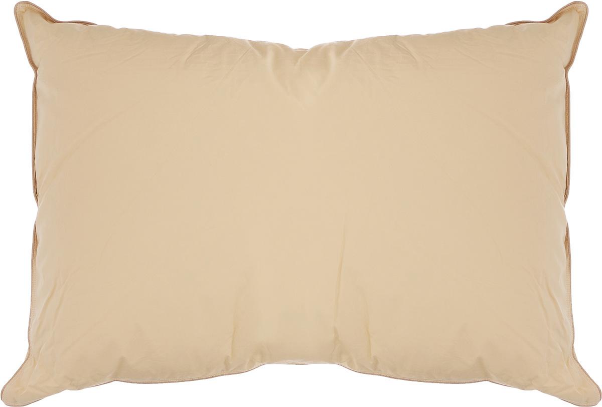 Подушка Легкие сны Капучино, наполнитель: гусиный пух категории Экстра, 50 х 68 см8812Подушка Легкие сны Капучино поможет расслабиться, снимет усталость и подарит вам спокойный и здоровый сон. Наполнителем этой подушки является воздушный и легкий гусиный пух категории Экстра. Чехол выполнен из гладкого, шелковистого и при этом достаточно прочного сатина (100% хлопок) карамельного цвета. По краю изделия выполнена отделка атласным кантом бежевого цвета. Это отличный вариант для подарка себе и своим близким и любимым. Подушку можно стирать в стиральной машине. Степень поддержки: средняя.