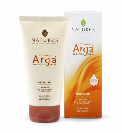 Natures Арга Кондиционер для волос, 150 мл503535Формула содержит масла Арги и Льняного семени для увлажняющего, смягчающего и реструктуризирующего воздействия, экстракт Алоэ Вера для защиты кожи головы. Восстанавливает естественную мягкость и яркость, оставляя волосы шелковистыми. Облегчает расчесывание, с эффектом сияния.