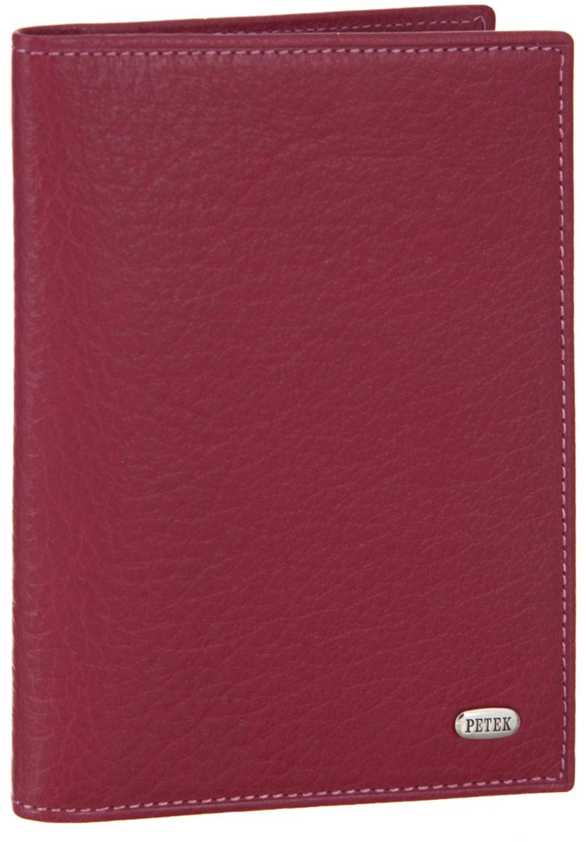 Обложка для автодокументов женская Petek 1855, цвет: фуксия. 584.46B.44584.46B.44 FuchsiaСтильная обложка для автодокументов Petek 1855 изготовлена из натуральной кожи с зернистой фактурой, оформлена металлической пластиной с символикой бренда.Внутри изделия расположены четыре прорезных кармашка для пластиковых карт, сетчатый карман и вкладыш, включающий в себя шесть файлов под автодокументы. Изделие поставляется в фирменной упаковке.Практичная и удобная модель обложки предназначена для тех, кто предпочитает все необходимое хранить в одном месте.
