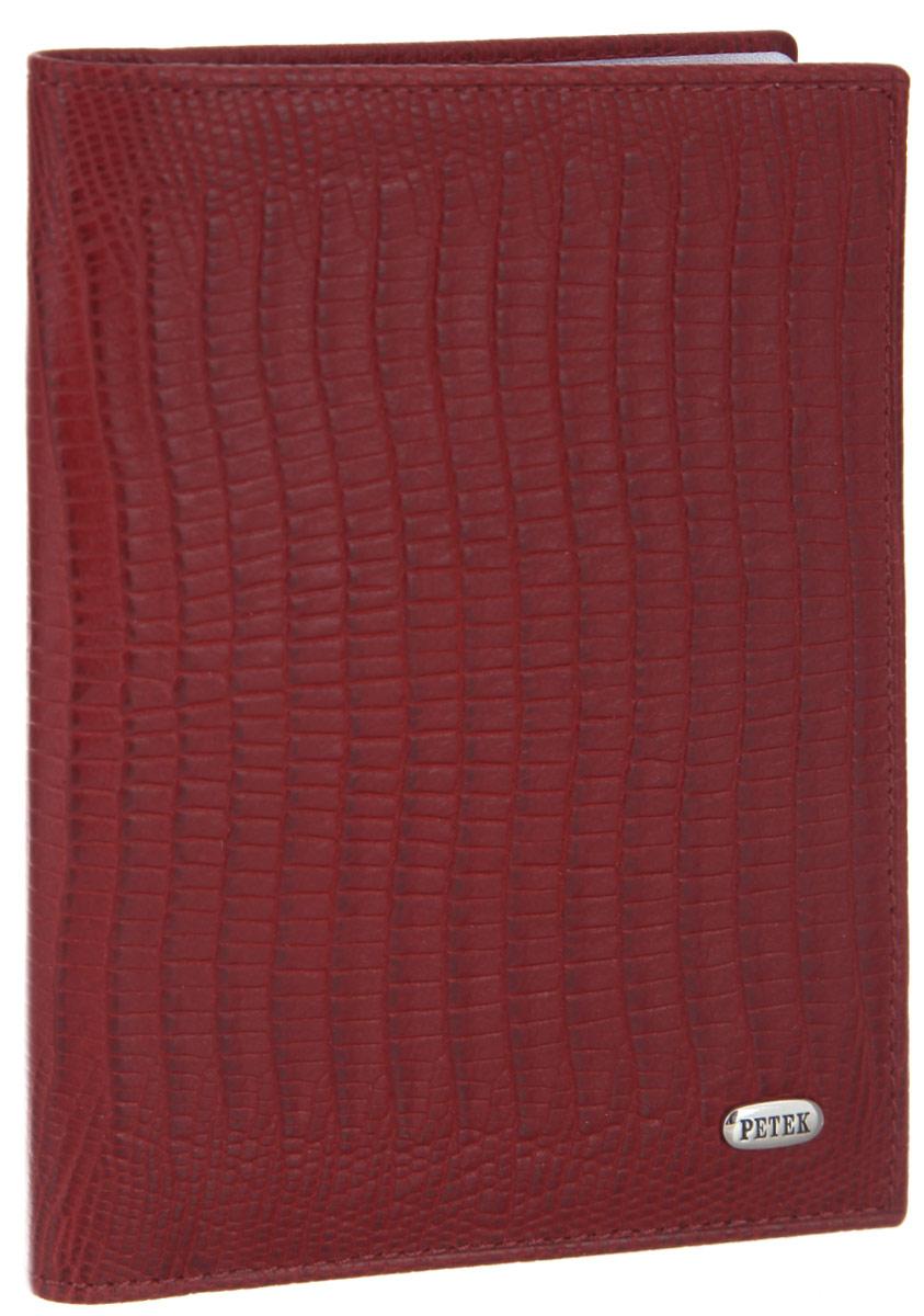 Обложка для автодокументов женская Petek 1855, цвет: красный. 584.041.10VCA-00Стильная обложка для автодокументов Petek 1855 изготовлена из натуральной кожи с декоративным фактурным тиснением под кожу рептилии, оформлена металлической пластиной с символикой бренда.Внутри изделия расположены четыре прорезных кармашка для пластиковых карт, сетчатый карман и вкладыш, включающий в себя шесть файлов под автодокументы. Изделие поставляется в фирменной упаковке.Практичная и удобная модель обложки предназначена для тех, кто предпочитает все необходимое хранить в одном месте.