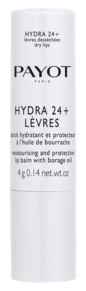 Payot Hydra 24+ Увлажняющий бальзам-стик для губ, 4 мл5010777139655Бальзам увлажняет и возвращает комфорт сухой и поврежденной коже губ. Гипоаллергенное средство, не содержащее консервантов.Наносите бальзам на губы утром и вечером и при необходимости в любое время дня