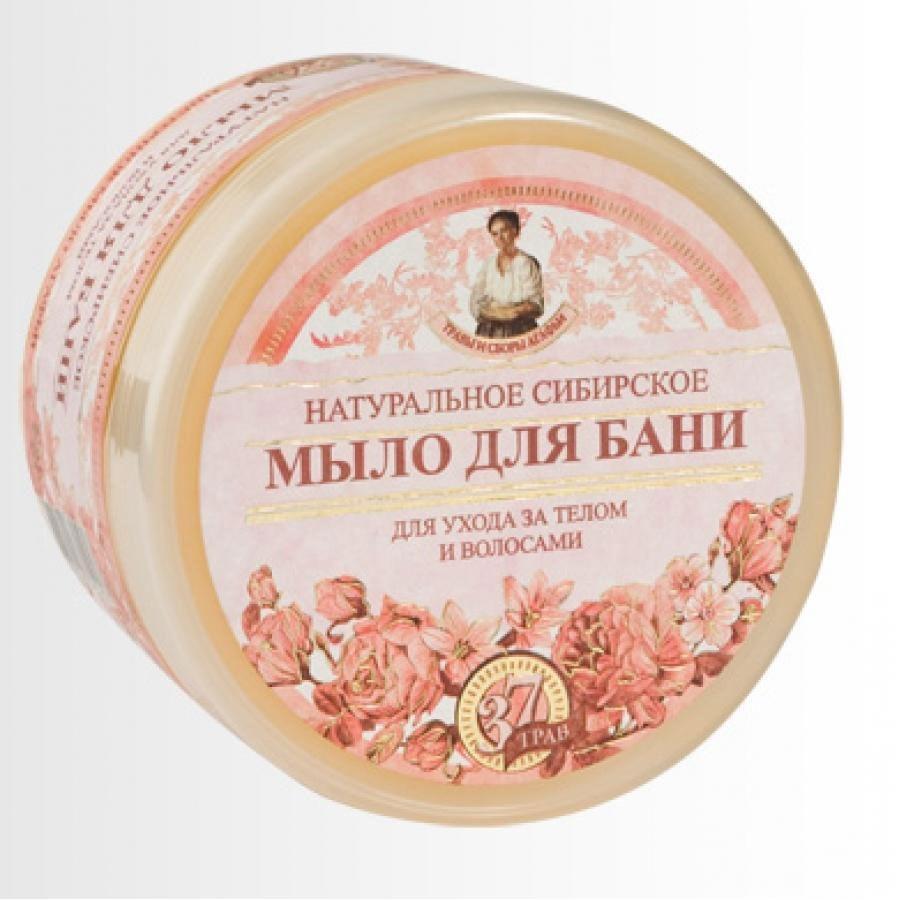 Травы и Сборы Агафьи. Мыло для бани Цветочное мыло Агафьи 500 млMFM-3101Натуральное Сибирское мыло для бани - цветочное мыло для ухода за телом и волосами.В состав цветочного мыла, кроме множества ценных сибирских трав, входят цветочные нектары, пыльца и воск, что делает данный продукт нежным, легким и ароматным.Мыло можно использовать и как шампунь, и как гель для душа.