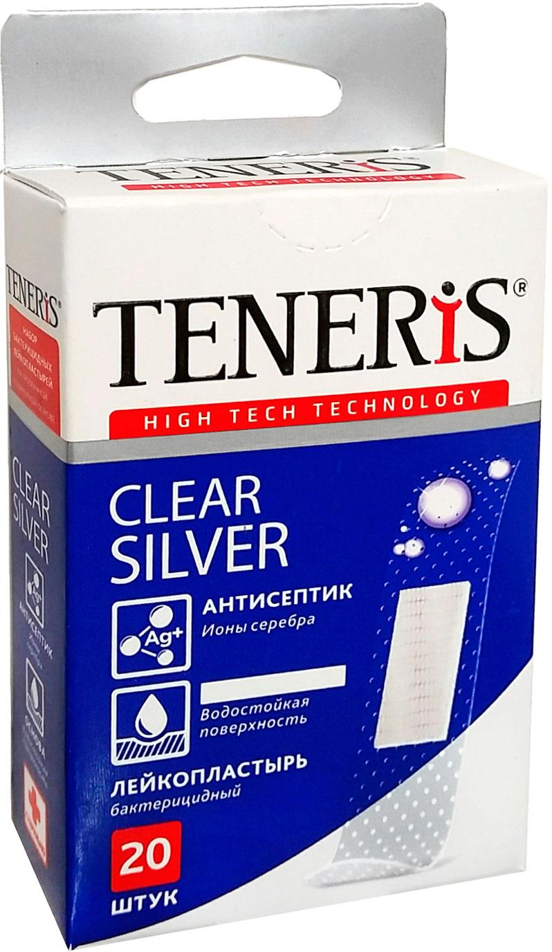 Набор лейкопластырей Тенерис Клиа Силвер бактерицидных: 20 шт, 76 мм х 19 мм1*26110Лейкопластырь бактерицидный на тканевой основе. Супер-эластичный. Дышащий. Не стесняет движения.Антисептик - ионы серебра. Антитравматическое покрытие раневой подушечки. 20 шт. в упаковке