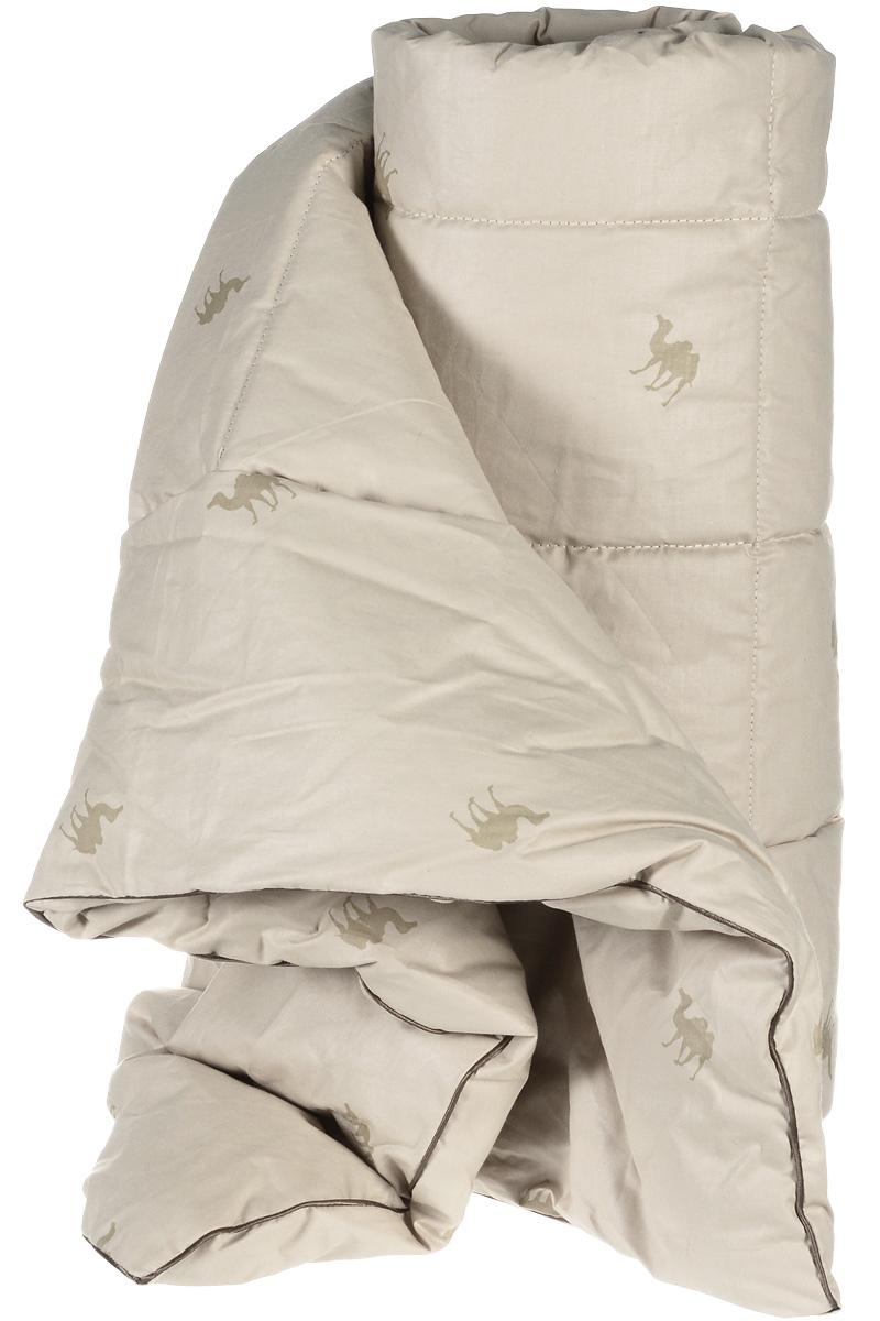 Одеяло теплое Легкие сны Верби, наполнитель: верблюжья шерсть, 172 x 205 см96281389Теплое одеяло Легкие сны Верби поможет расслабиться, снимет усталость и подарит вам спокойный и здоровый сон. Верблюжья шерсть является прекрасным изолятором и широко используется как наполнитель для постельных принадлежностей. Одеяла из нее отличаются хорошей воздухопроницаемостью и способностью быстро поглощать излишнюю влагу. Они позволяют коже дышать, поддерживают постоянную температуру тела, обеспечивая здоровый и комфортный сон. Кассетное распределение наполнителя способствует сохранению формы и воздушности изделия. Чехол одеяла выполнен из прочного тика (100% хлопок) с рисунком в виде верблюдов. Это натуральная хлопчатобумажная ткань, отличающаяся высокой плотностью, она устойчива к проколам и разрывам, а также отличается долговечностью в использовании. По краю одеяла выполнена отделка атласным кантом коричневого цвета. Под нежным, мягким и теплым одеялом вам приснятся только сказочные сны. Рекомендуется химчистка.