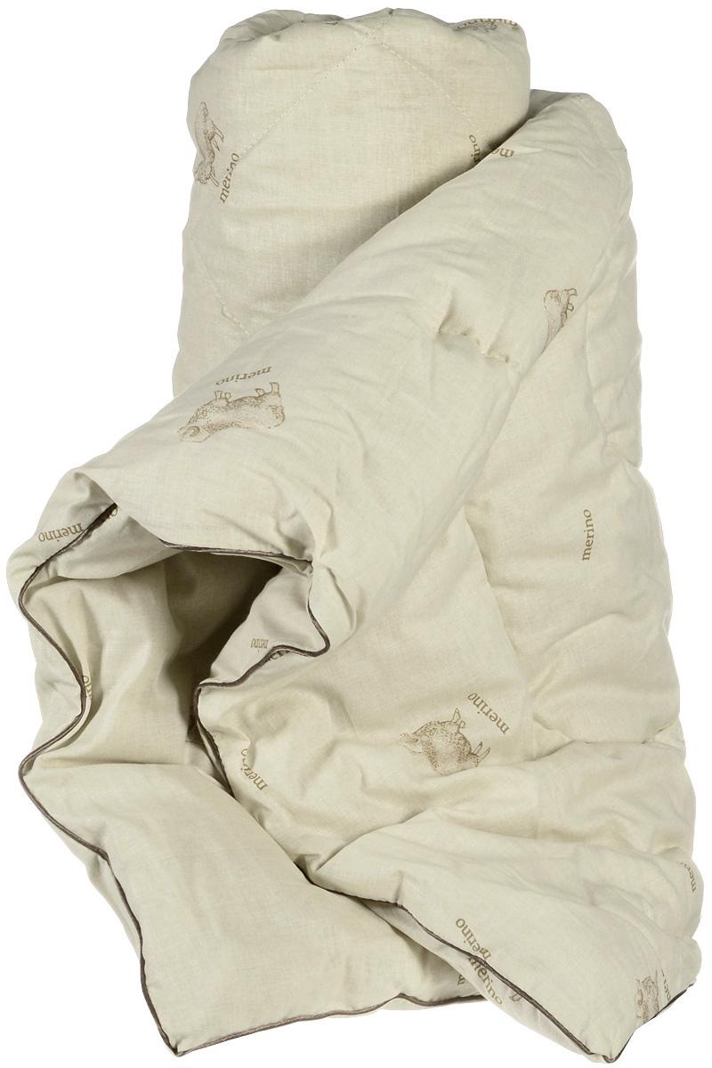 Одеяло теплое Легкие сны, наполнитель: овечья шерсть, 172 х 205 смCLP446Теплое одеяло Легкие сны с наполнителем из шерсти овцы обеспечивает сухое тепло за счет природной особенности материала. Волокна в нем не прямые, а состоят из завитков, которые способствуют удержанию воздуха, делая изделие пышным, мягким и легким. Чехол одеяла изготовлен из натурального хлопка. Дышащие свойства шерсти позволяют использовать изделие даже людям, страдающим аллергией.Теплое одеяло Легкие сны благотворно влияет на суставы, снимает нервное напряжение. Оно идеально подойдет тем, кто ценит мягкость и комфорт. Одеяло простегано и окантовано. Стежка надежно удерживает наполнитель внутри и не позволяет ему скатываться. Материал чехла: 100% хлопок.Наполнитель: овечья шерсть. Плотность наполнителя: 300 г/м2.Размер изделия: 172 х 205 см.