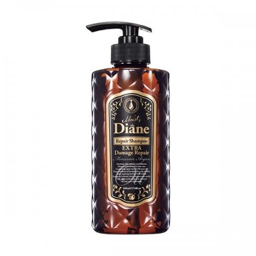 Moist Diane Repair Shampoo Extra Damage Repair GL Глубокое восстановление поврежденных волос, 500 млFS-00897Восстанавливает поврежденную структуру, увлажняет волосы изнутри и покрывает поверхность волоса тонкой пленкой, запечатывая питательные и увлажняющие ингредиенты внутри. Ухаживает за окрашенными волосами и придает волосам шелковистый блеск. Шампунь имеет аромат лесных ягод.Рекомендуется использовать в комплексе с бальзамом для волос той же линии.