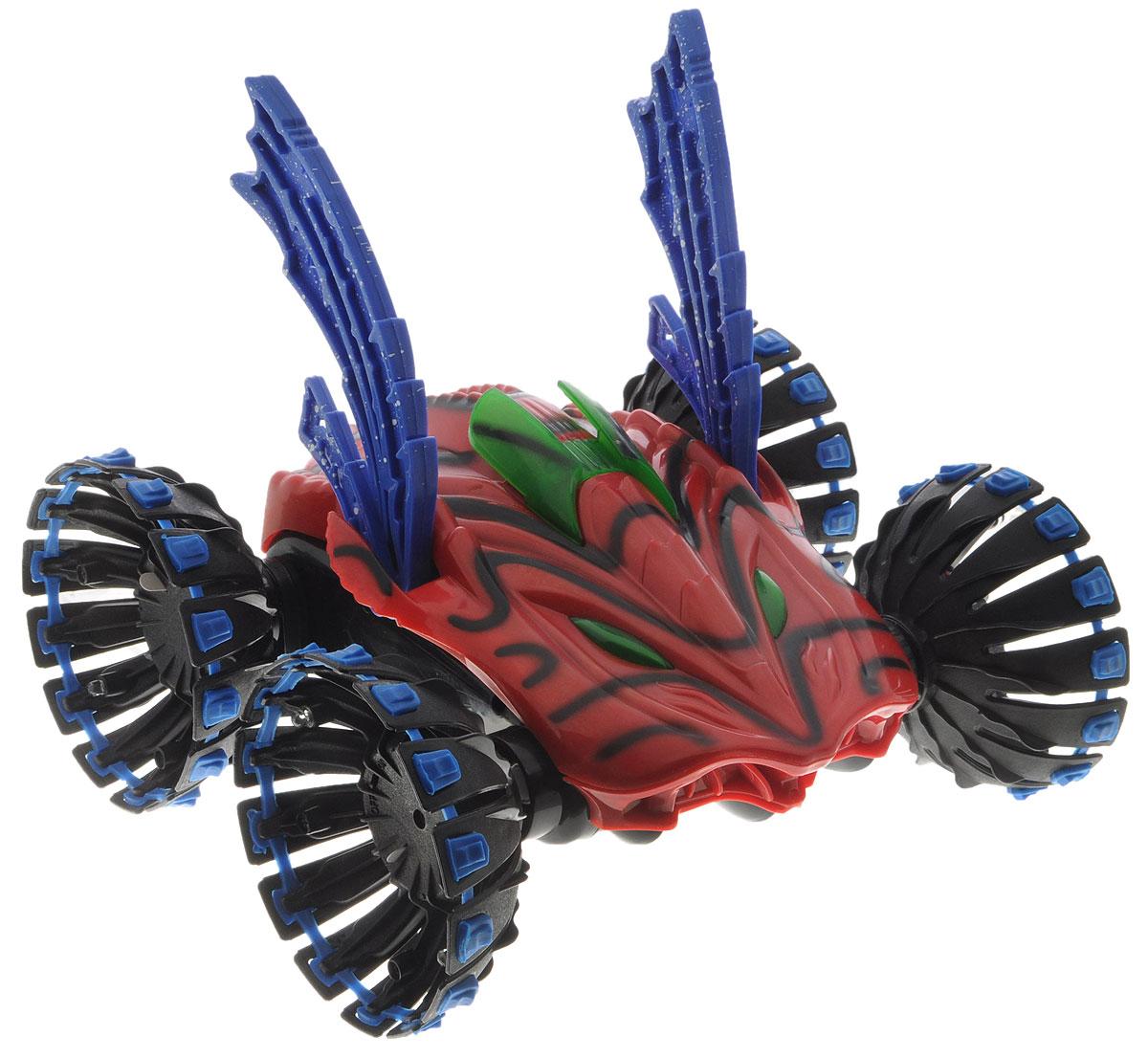 """Машина на радиоуправлении Balbi """"Автоакробат"""" станет отличным подарком любому мальчику! Яркая окраска прочного корпуса с черными полосами, мощные колеса не оставят равнодушным юного гонщика. Машинка оснащена приводом на все колеса и способна не только ездить, но и переворачиваться и даже """"ходить""""! Игрушка имеет 3 комплекта колес для разных режимов игры, а с помощью трансформирующихся колес машина будет """"шагать"""" по поверхности. Автомобиль способен двигаться вперед-назад, и осуществлять поворот на 360°. Имеются световые эффекты. Пульт управления модели имеет радиус действия до 30 метров! Работает на частоте 27 MHz. Радиоуправляемая машина понравится всем любителям технически сложных игрушек! Машинка работает от аккумулятора (входит в комплект), или от 8 батареек типа АА (не входят в комплект). Зарядка аккумулятора осуществляется с помощью зарядного устройства (входит в комплект). Пульт работает от батарейки типа """"Крона"""" (входит в комплект)...."""