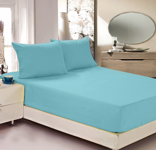 Простыня на резинке Легкие сны Color Way, трикотаж, цвет: бирюзовый, 140 x 200 см10503Простыня Легкие сны Color Way выполнена из трикотажа. Высочайшее качество материала гарантирует безопасность не только взрослых, но и самых маленьких членов семьи. Изделие прошито резинкой по всему периметру, что обеспечивает более комфортный отдых, так как оно прочно удерживается на матрасе и избавляет от необходимости часто поправлять простыню. Простыня гармонично впишется в интерьер вашей спальни и создаст атмосферу уюта и комфорта.Рекомендации по уходу:Деликатная стирка при температуре воды до 30°С.Отбеливание, химчистка запрещены.Рекомендуется глажка при температуре подошвы утюга до 150°С.Разрешена барабанная сушка.
