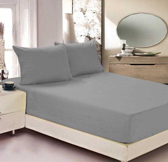 Простыня на резинке Легкие сны Color Way, трикотаж, цвет: серый, 90 x 200 смES-412Простыня Легкие сны Color Way выполнена из трикотажа. Высочайшее качество материала гарантирует безопасность не только взрослых, но и самых маленьких членов семьи. Изделие прошито резинкой по всему периметру, что обеспечивает более комфортный отдых, так как оно прочно удерживается на матрасе и избавляет от необходимости часто поправлять простыню. Простыня гармонично впишется в интерьер вашей спальни и создаст атмосферу уюта и комфорта.Рекомендации по уходу:Деликатная стирка при температуре воды до 30°С.Отбеливание, химчистка запрещены.Рекомендуется глажка при температуре подошвы утюга до 150°С.Разрешена барабанная сушка.