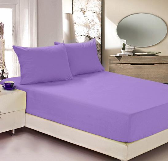 Простыня на резинке Легкие сны Color Way, трикотаж, цвет: сиреневый, 140 x 200 смES-412Простыня Легкие сны Color Way выполнена из трикотажа. Высочайшее качество материала гарантирует безопасность не только взрослых, но и самых маленьких членов семьи. Изделие прошито резинкой по всему периметру, что обеспечивает более комфортный отдых, так как оно прочно удерживается на матрасе и избавляет от необходимости часто поправлять простыню. Простыня гармонично впишется в интерьер вашей спальни и создаст атмосферу уюта и комфорта.Рекомендации по уходу:Деликатная стирка при температуре воды до 30°С.Отбеливание, химчистка запрещены.Рекомендуется глажка при температуре подошвы утюга до 150°С.Разрешена барабанная сушка.