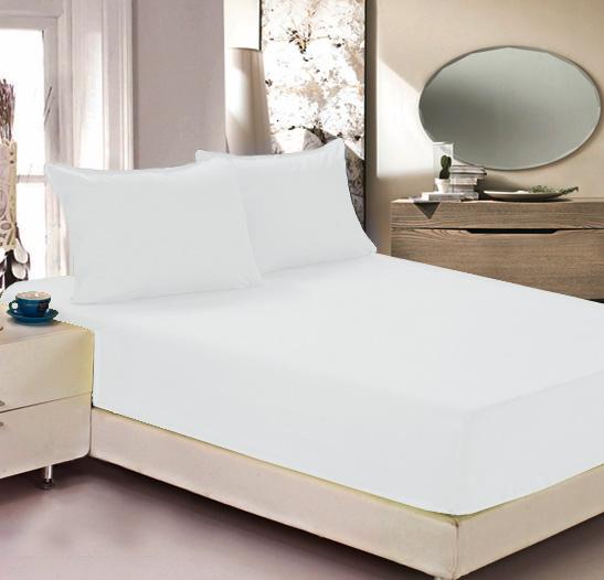 Простыня на резинке Легкие сны Color Way, трикотаж, цвет: белый, 180 x 200 см531-105Простыня Легкие сны Color Way выполнена из трикотажа. Высочайшее качество материала гарантирует безопасность не только взрослых, но и самых маленьких членов семьи. Изделие прошито резинкой по всему периметру, что обеспечивает более комфортный отдых, так как оно прочно удерживается на матрасе и избавляет от необходимости часто поправлять простыню. Простыня гармонично впишется в интерьер вашей спальни и создаст атмосферу уюта и комфорта.Рекомендации по уходу:Деликатная стирка при температуре воды до 30°С.Отбеливание, химчистка запрещены.Рекомендуется глажка при температуре подошвы утюга до 150°С.Разрешена барабанная сушка.