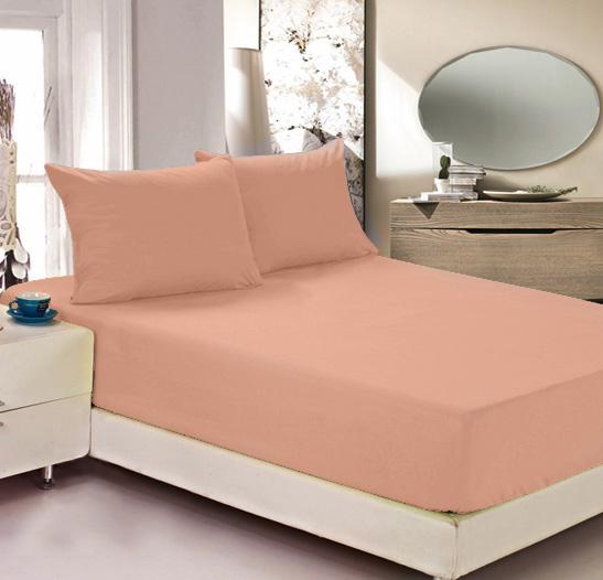 Простыня на резинке Легкие сны Color Way, трикотаж, цвет: персиковый, 140 x 200 смES-412Простыня Легкие сны Color Way выполнена из хлопка. Высочайшее качество материала гарантирует безопасность не только взрослых, но и самых маленьких членов семьи. Изделие прошито резинкой по всему периметру, что обеспечивает более комфортный отдых, так как оно прочно удерживается на матрасе и избавляет от необходимости часто поправлять простыню. Простыня гармонично впишется в интерьер вашей спальни и создаст атмосферу уюта и комфорта.Рекомендации по уходу:Деликатная стирка при температуре воды до 30°С.Отбеливание, химчистка запрещены.Рекомендуется глажка при температуре подошвы утюга до 150°С.Разрешена барабанная сушка.
