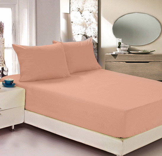 Простыня на резинке Легкие сны Color Way, трикотаж, цвет: персиковый, 200 x 200 см16056Простыня Легкие сны Color Way выполнена из трикотажа. Высочайшее качество материала гарантирует безопасность не только взрослых, но и самых маленьких членов семьи. Изделие прошито резинкой по всему периметру, что обеспечивает более комфортный отдых, так как оно прочно удерживается на матрасе и избавляет от необходимости часто поправлять простыню. Простыня гармонично впишется в интерьер вашей спальни и создаст атмосферу уюта и комфорта.Рекомендации по уходу:Деликатная стирка при температуре воды до 30°С.Отбеливание, химчистка запрещены.Рекомендуется глажка при температуре подошвы утюга до 150°С.Разрешена барабанная сушка.