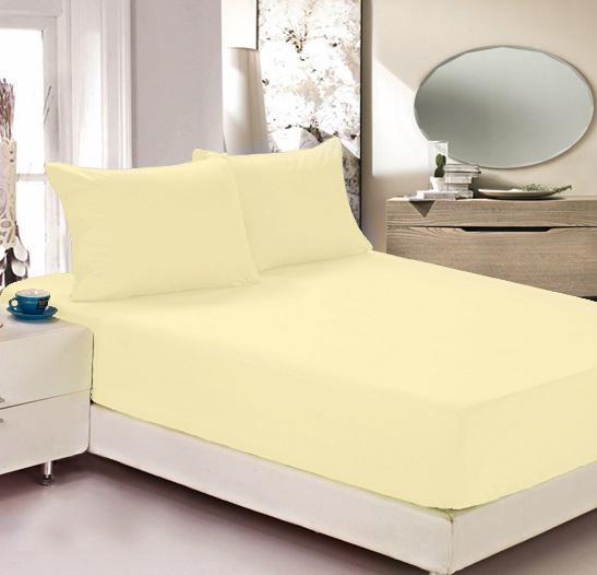Простыня на резинке Легкие сны Color Way, трикотаж, цвет: желтый, 160 x 200 см531-105Простыня Легкие сны Color Way выполнена из трикотажа. Высочайшее качество материала гарантирует безопасность не только взрослых, но и самых маленьких членов семьи. Изделие прошито резинкой по всему периметру, что обеспечивает более комфортный отдых, так как оно прочно удерживается на матрасе и избавляет от необходимости часто поправлять простыню. Простыня гармонично впишется в интерьер вашей спальни и создаст атмосферу уюта и комфорта.Рекомендации по уходу:Деликатная стирка при температуре воды до 30°С.Отбеливание, химчистка запрещены.Рекомендуется глажка при температуре подошвы утюга до 150°С.Разрешена барабанная сушка.