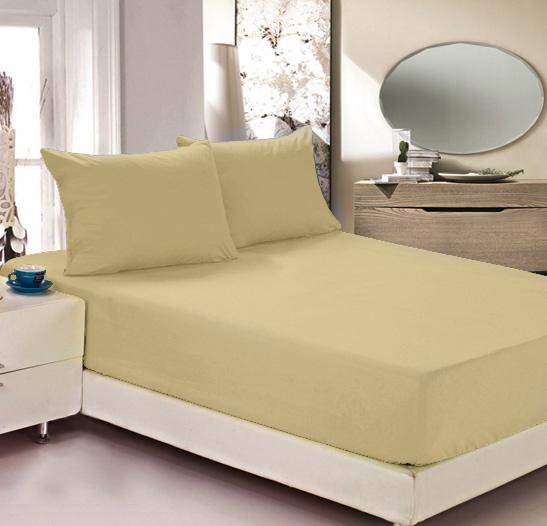 Простыня на резинке Легкие сны Color Way, трикотаж, цвет: бежевый, 180 x 200 см531-401Простыня Легкие сны Color Way выполнена из трикотажа. Высочайшее качество материала гарантирует безопасность не только взрослых, но и самых маленьких членов семьи. Изделие прошито резинкой по всему периметру, что обеспечивает более комфортный отдых, так как оно прочно удерживается на матрасе и избавляет от необходимости часто поправлять простыню. Простыня гармонично впишется в интерьер вашей спальни и создаст атмосферу уюта и комфорта.Рекомендации по уходу:Деликатная стирка при температуре воды до 30°С.Отбеливание, химчистка запрещены.Рекомендуется глажка при температуре подошвы утюга до 150°С.Разрешена барабанная сушка.