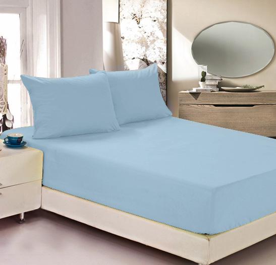 Простыня на резинке Легкие сны Color Way, трикотаж, цвет: голубой, 140 x 200 смWUB 5647 weisПростыня Легкие сны Color Way выполнена из трикотажа. Высочайшее качество материала гарантирует безопасность не только взрослых, но и самых маленьких членов семьи. Изделие прошито резинкой по всему периметру, что обеспечивает более комфортный отдых, так как оно прочно удерживается на матрасе и избавляет от необходимости часто поправлять простыню. Простыня гармонично впишется в интерьер вашей спальни и создаст атмосферу уюта и комфорта.Рекомендации по уходу:Деликатная стирка при температуре воды до 30°С.Отбеливание, химчистка запрещены.Рекомендуется глажка при температуре подошвы утюга до 150°С.Разрешена барабанная сушка.