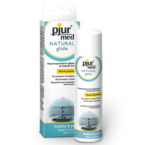 Pjur, Нейтральный лубрикант на водной основе pjurMED Natural glide 100 мл0003929Лубрикант на водной основе: чистый природный глицерин обеспечивает увлажнение кожи и гарантирует длительный скользящий эффект, заботясь и защищая от сухости нежную кожу, уставшую от стресса. Дерматологически тестирован, подходит для чувствительной кожи. Идеален для ежедневного применения. Мягкое увлажнение. Для сухой или уставшей от стресса кожи.