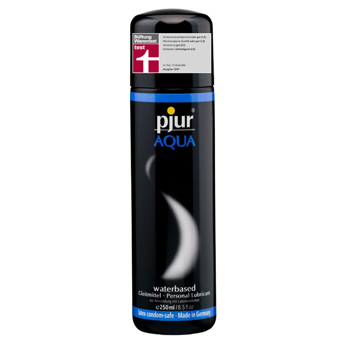 Pjur, Увлажняющий лубрикант pjur AQUA 250 млPJURAQUA-250Лубрикант на водной основе. Качество говорит само за себя. Очень бережно отностися к слизистым оболочкам на микробиологическом уровне. Лубрикант увлажняет кожу, не делая ее липкой. Не содержит нефтепродуктов, масел, и парфюмерных добавок, что делает его особо нежной для вашей кожи и слизистых оболочек. Сверхмягкая формула с продолжительным скольжением питает и защищает сухую и поврежденную кожу. Будь то ежедневные ласки или регулярный уход за телом: pjur AQUA всегда оставляет приятные ощущения.
