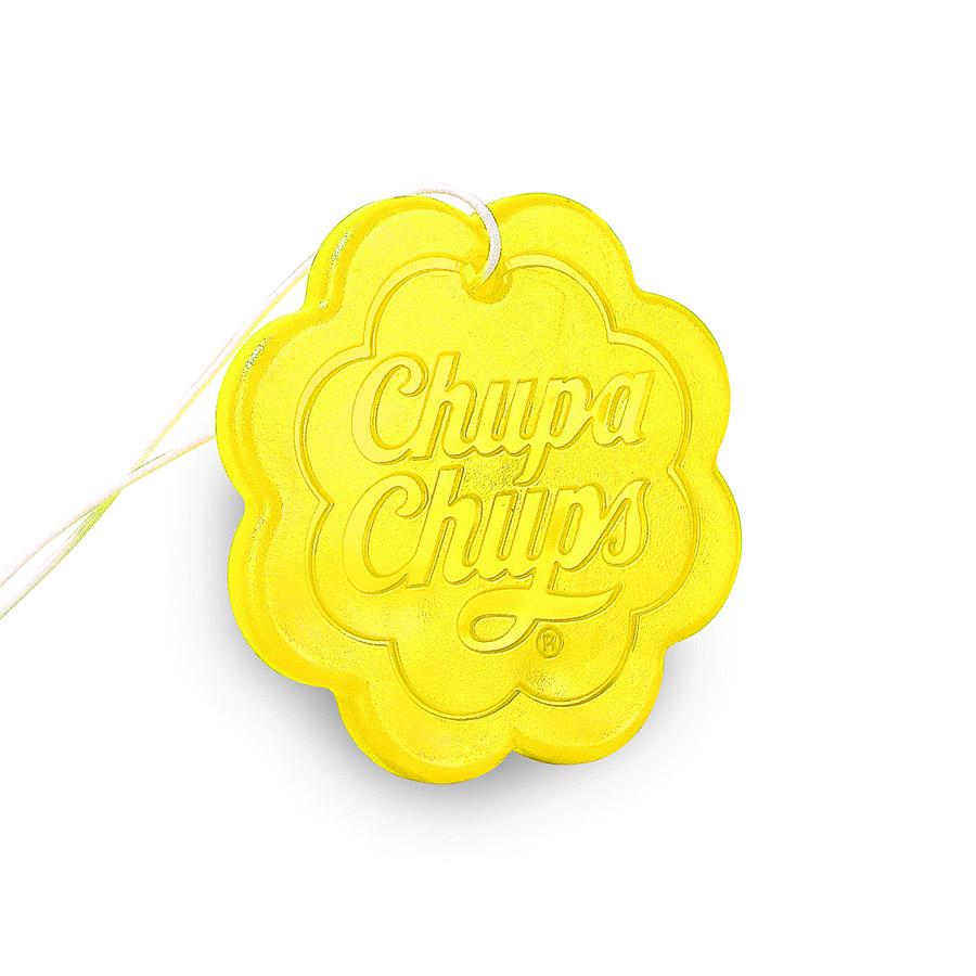 Ароматизатор воздуха Chupa Chups Лайм-лимон, подвесной, гелевый, 18 г221000Подвесной гелевый ароматизатор выполнен в виде логотипа Chupa Chups с ароматом лимона и лайма. Легко размещается в салоне автомобиля, а оригинальный необычный дизайн ароматизатора еще и украшает салон. Срок службы 45 дней.