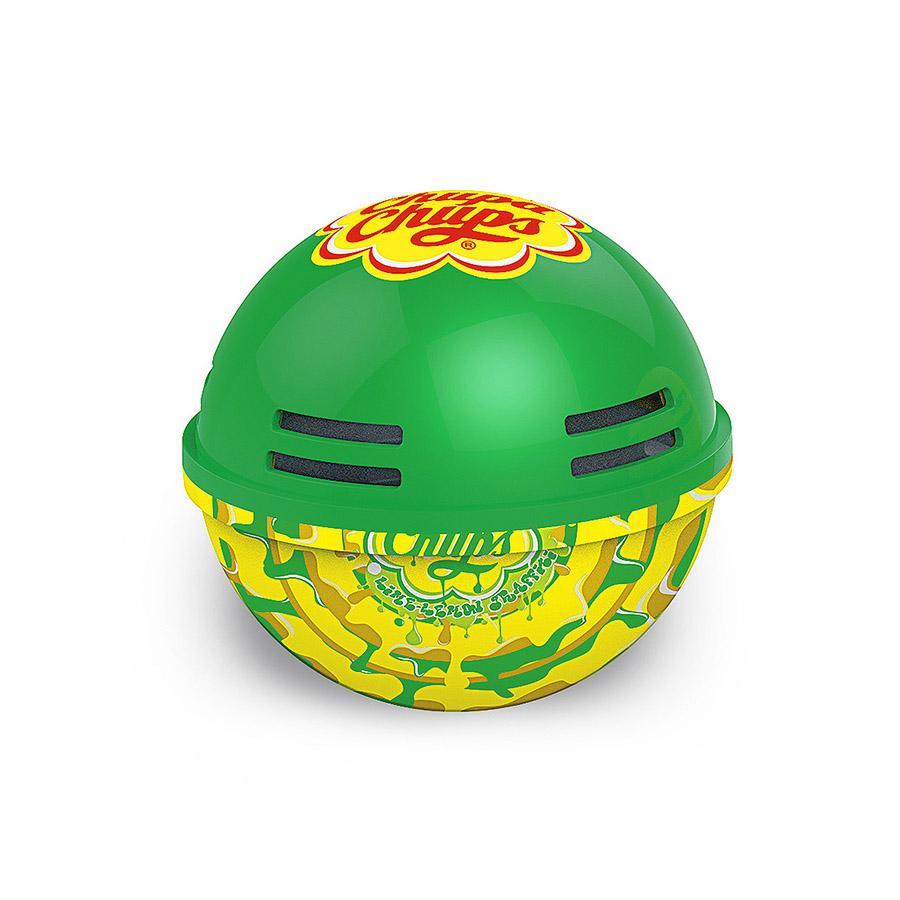Ароматизатор воздуха Chupa Chups Лайм-лимон, на панель приборов, гелевый, 100 млДА-18/2+Н550Круглый гелевый ароматизатор на панель приборов в виде огромного леденца Chupa Chups с ароматом лимона и лайма. Обеспечивает приятный запах до 45 дней. Легко размещается в салоне автомобиля, а оригинальный необычный дизайн ароматизатора еще и украшает салон.