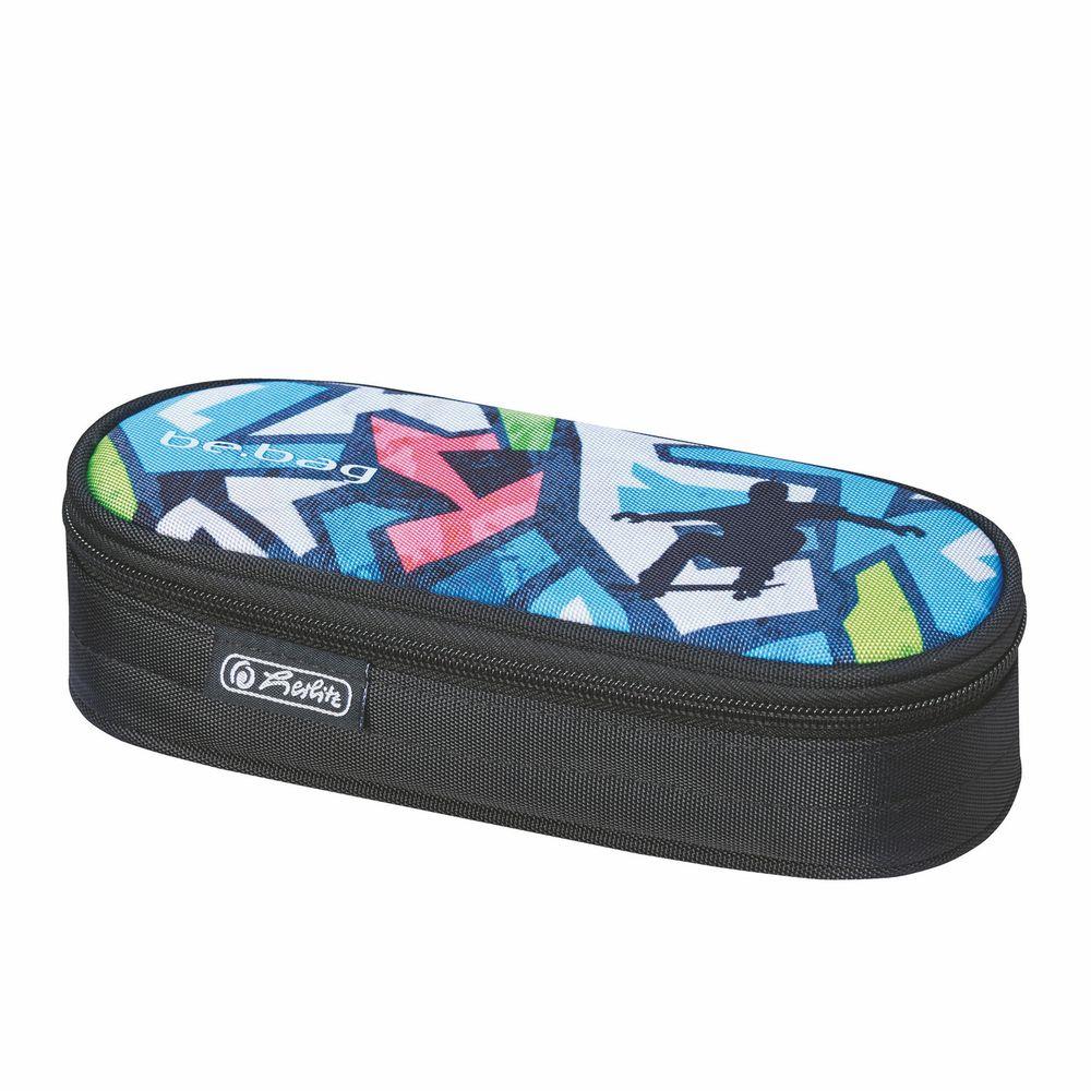 Herlitz Пенал Be.Bag Airgo Skater72523WDПенал Herlitz Be.Bag Airgo Skater станет не только практичным, но и стильным школьным аксессуаром. Пенал с жестким корпусом выполнен из прочного высококачественного материала и имеет одно вместительное отделение, закрывающееся на застежку-молнию. Пенал оформлен принтом с изображением спортсмена на скейте. Такой пенал станет незаменимым помощником для школьника, с ним ручки и карандаши всегда будут под рукой и больше не потеряются.