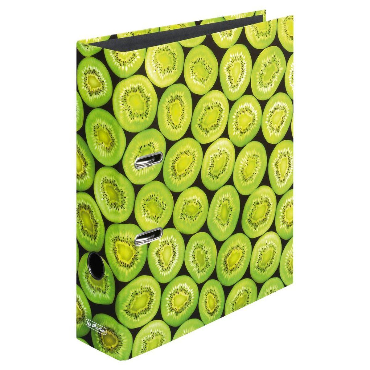 Herlitz Папка-регистратор MaX.file Киви80101_зеленыйПрактичная папка-регистратор Herlitz maX.file Киви предназначена для хранения больших объемов документов. Ее обложка выполнена из ламинированного картона. Папка оснащена прочным арочным механизмом улучшенного высокого качества с увеличенной прижимной силой. Основа папки изготовлена из прочного FSC-сертифицированного картона.Папка-регистратор значительно облегчает делопроизводство. Красочный дизайн позволит ей стать достойным аксессуаром среди ваших канцелярских принадлежностей и будет сохранять даже на полке летнюю атмосферу.