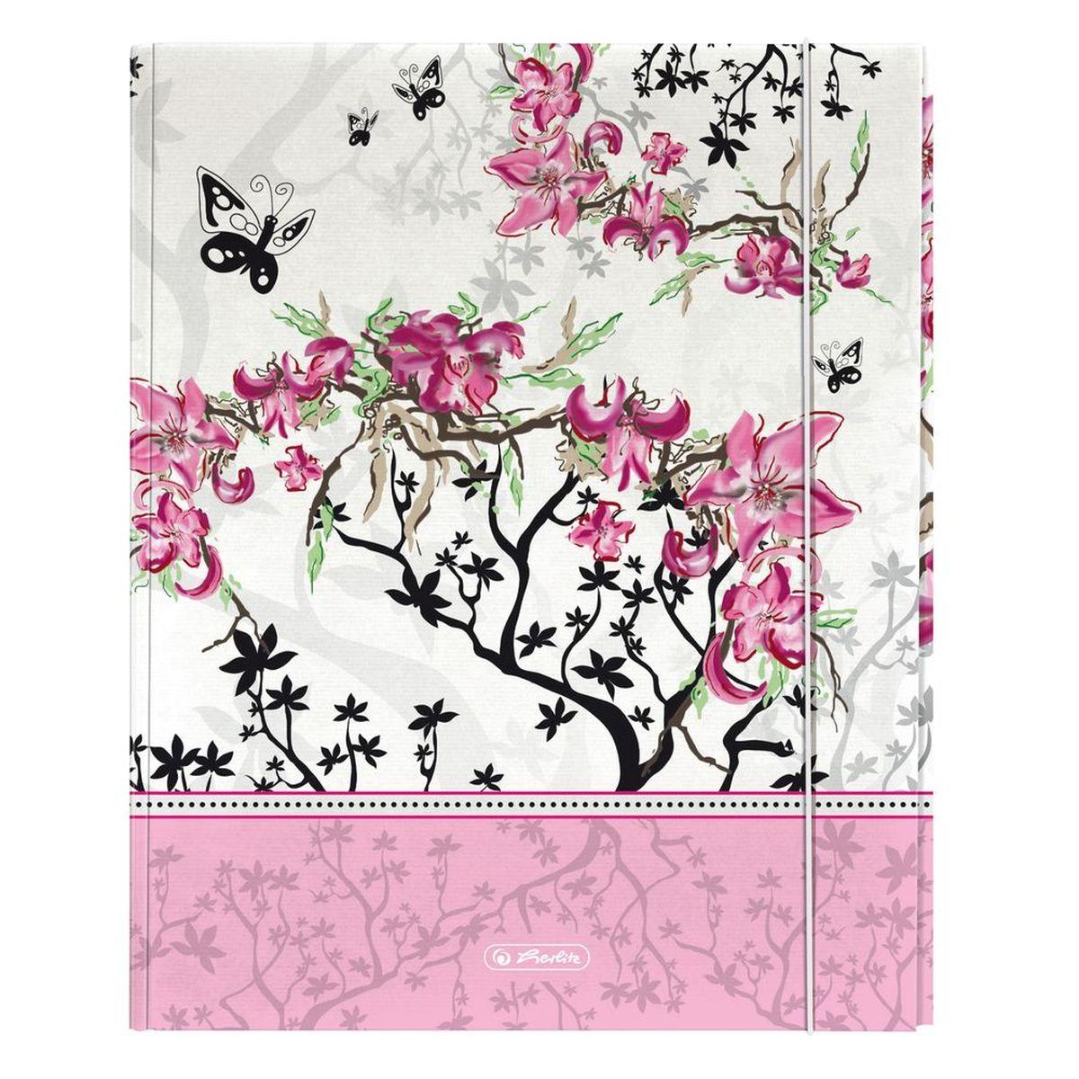 Herlitz Папка на резинке Ladylike Bloom