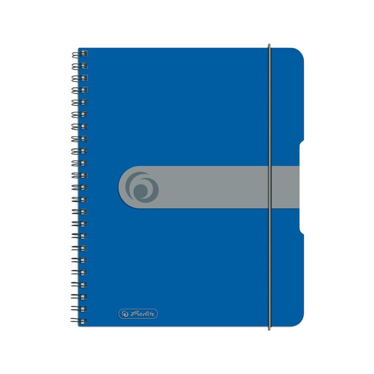 Herlitz Блокнот Easy Orga To Go 80 листов в клетку формат А5 цвет синий72523WDУдобный блокнот от Herlitz Easy Orga To Go - незаменимый атрибут современного человека, необходимый для рабочих или школьных записей.Блокнот содержит 80 листов формата А5 в клетку без полей. Обложка выполнена из качественного полипропилена. Внутренний спиральный блок изготовлен из металла и гарантирует надежное крепление листов. Блокнот имеет закругленные углы и нежный дизайн бордового цвета.Блокнот для записей от Herlitz Easy Orga To Go станет достойным аксессуаром среди ваших канцелярских принадлежностей. Это отличный подарок как коллеге или деловому партнеру, так и близким людям.