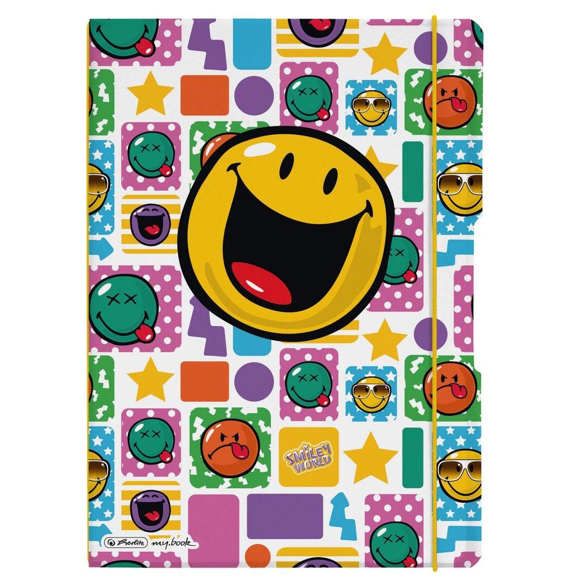 Herlitz Блокнот my.book Flex Smiley Happy 80 листов в клетку/линейку формат А42010440Комбинируемый блокнот от Herlitz my.book Flex Smiley Happy подойдет для любого случая: в университете, в школе, дома или в офисе.Благодаря разным бумажным сменным блокам, а также эластичным резинкам и креплению блокнот my.book всегда остается уникальным и разнообразным. С помощью наборов эластичных резинок вы можете немного менять внешний вид своего блокнота my.book flex каждый день. При желании вы можете просто продолжать использовать свою любимую обложку, потому что с бумажными блоками всегда есть, где писать.Пластиковый блокнот my.book flex завоюет ваше сердце. Пластиковая версия блокнота формата A4 имеет еще одно преимущество: уникальная система 2-в-1. В отличие от обычных блокнотов, эта версия позволяет использовать одновременно бумажные блоки в клетку и в линейку. Утомительная необходимость носить за собой разные блокноты и тетради ушла в прошлое.