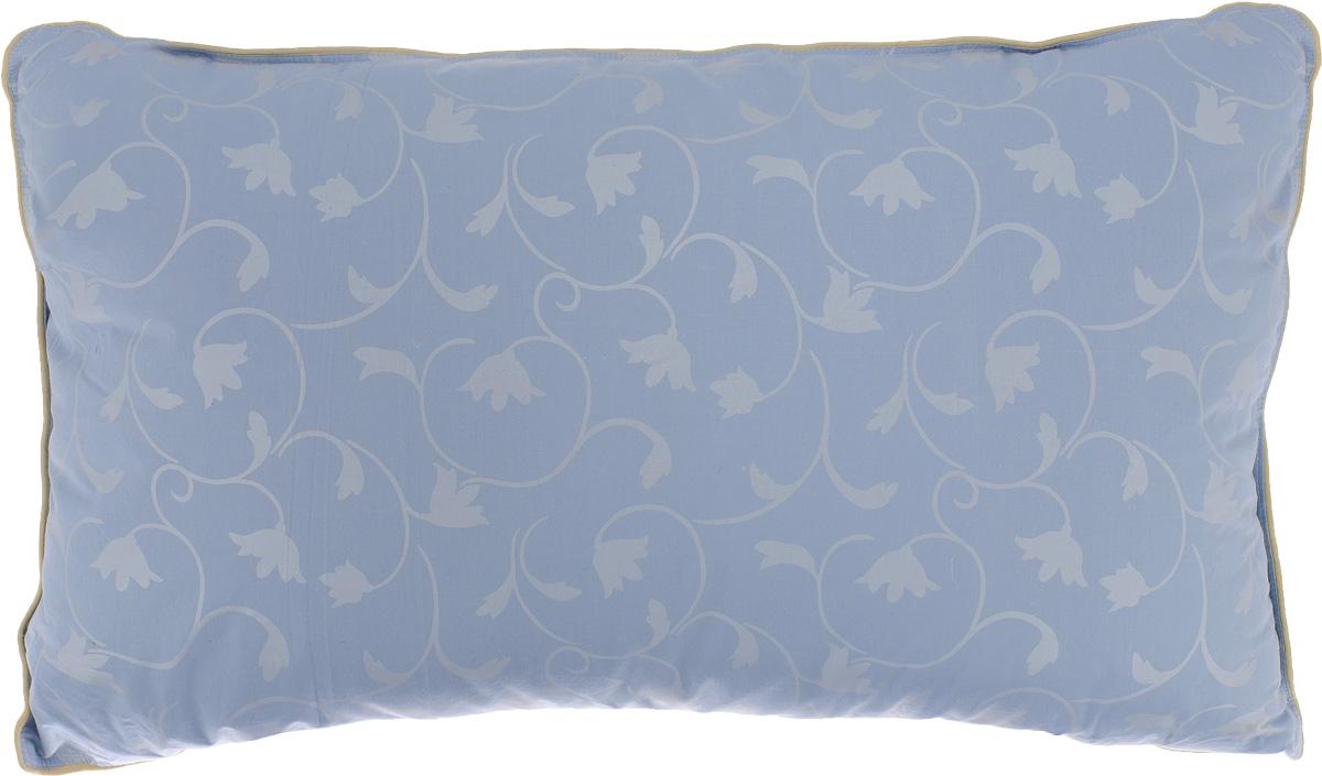 Подушка Легкие сны Камелия, наполнитель: гусиный пух, 38 x 60 смPR-1WПодушка Легкие сны Камелия поможет расслабиться, снимет усталость и подарит вам спокойный и здоровый сон. Наполнителем этой подушки является воздушный и легкий гусиный пух первой категории. Чехол изделия выполнен из пуходержащего тика небесно-голубого цвета с растительным рисунком. Тик - это натуральная хлопчатобумажная ткань, отличающаяся высокой плотностью, идеально подходит для пухо-перовых изделий, так как устойчива к проколам и разрывам, а также отличается долговечностью в использовании.Это отличный вариант для подарка себе и своим близким и любимым.Рекомендации по уходу:Деликатная стирка при температуре воды до 30°С.Отбеливание, барабанная сушка и глажка запрещены.Разрешается обычная химчистка.Степень поддержки: средняя.