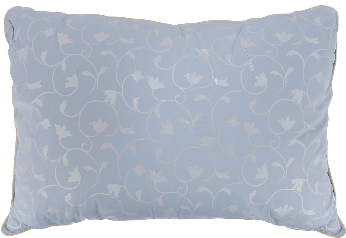 Подушка Легкие сны Камелия, наполнитель: гусиный пух, 50 x 68 см17102018Подушка Легкие сны Камелия поможет расслабиться, снимет усталость и подарит вам спокойный и здоровый сон. Наполнителем этой подушки является воздушный и легкий гусиный пух первой категории. Чехол изделия выполнен из пуходержащего тика небесно-голубого цвета с растительным рисунком. Тик - это натуральная хлопчатобумажная ткань, отличающаяся высокой плотностью, идеально подходит для пухо-перовых изделий, так как устойчива к проколам и разрывам, а также отличается долговечностью в использовании. По краю подушки выполнена отделка кантом. Это отличный вариант для подарка себе и своим близким и любимым.Рекомендации по уходу:Деликатная стирка при температуре воды до 30°С.Отбеливание, барабанная сушка и глажка запрещены.Разрешается обычная химчистка.Степень поддержки: средняя.