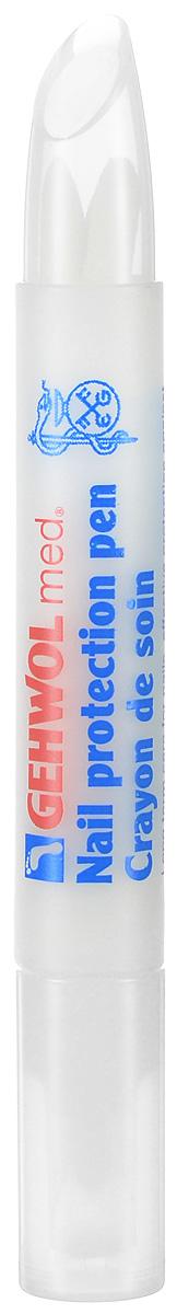 Gehwol Med Nail protection pen - Защитный антимикробный карандаш для ног 3 мл870396Защитный антимикробный карандаш Геволь мед (Gehwol med Nail protection pen) эффективно защищает ногти от поражений грибковыми заболеваниями (в составе активное вещество клотримазол). Ухаживает за сухими и ломкими ногтями, возвращает им влагу и придает эластичность.В составе пропитки карандаша такие высококачественные натуральные компоненты, как масло жожоба, витамин Е-ацетат, пантенол и бисаболол. Витамин В5 - стимулирует процесс регенерации клеток. Бисаболол (натуральное вещество из эфирного масла ромашки) препятствует распространению грибов и бактерий.Назначение:Грибковые заболевания.Защита ног в открытой обуви.