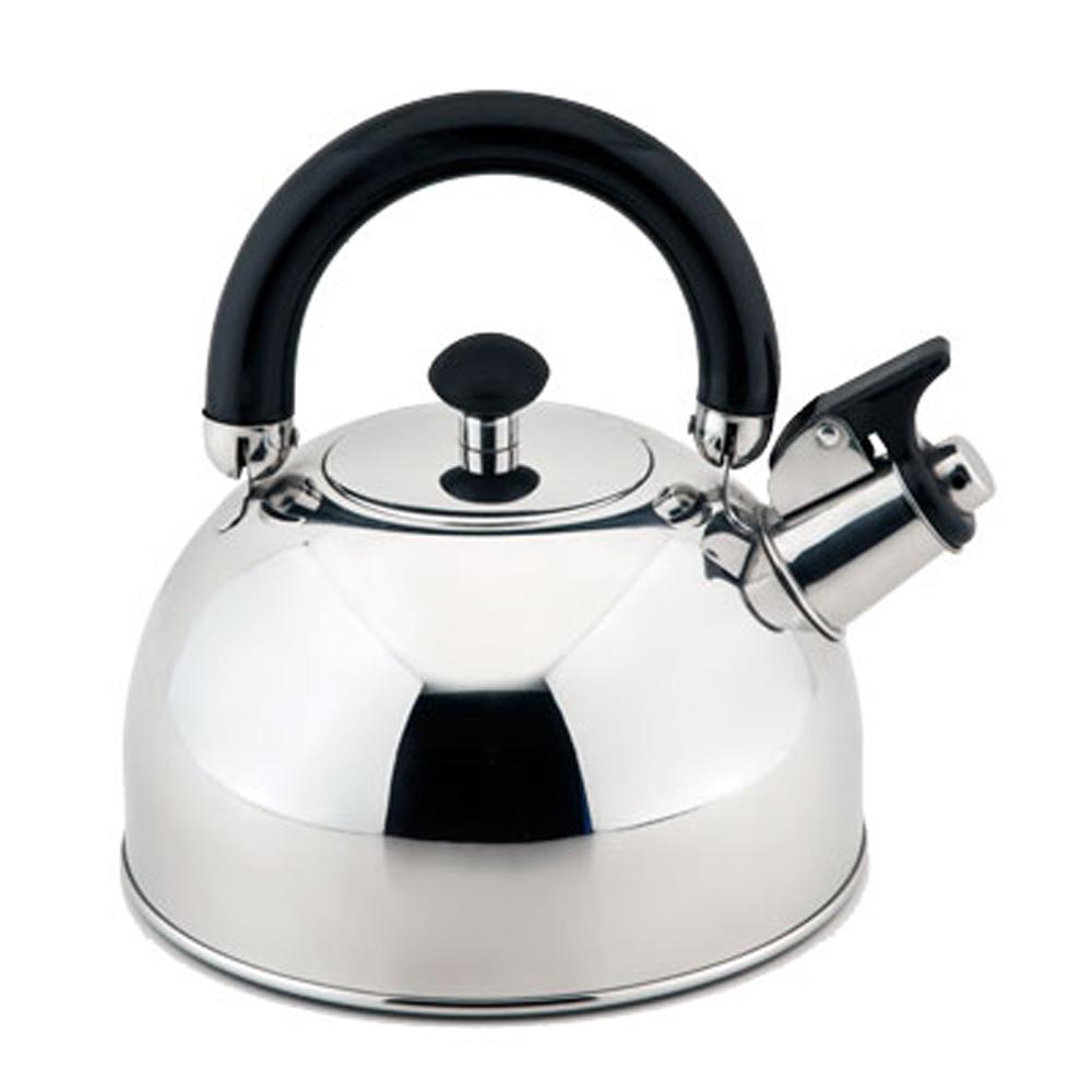 Чайник Esprado Ritade со свистком, 2,5 л9535BHЧайник Esprado Ritade изготовлен из высококачественной нержавеющей стали, что обеспечивает долговечность использования. Внешнее глянцевоепокрытие придает приятный внешний вид. Чайник оснащен подвижной стальной ручкой с бакелитовой вставкой, что предотвращает появление ожогов и обеспечивает безопасность использования.Чайник снабжен свистком и устройством для открывания носика.Подходит для использования на всех видах плит, включая индукционные. Не рекомендуется мыть в посудомоечной машине.