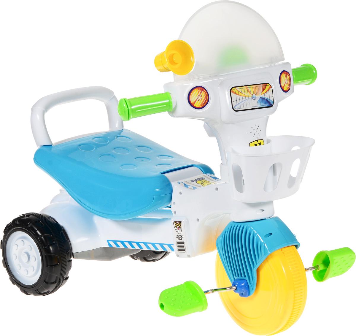 J.R. TOYS Велосипед детский Трицикл цвет голубой белый
