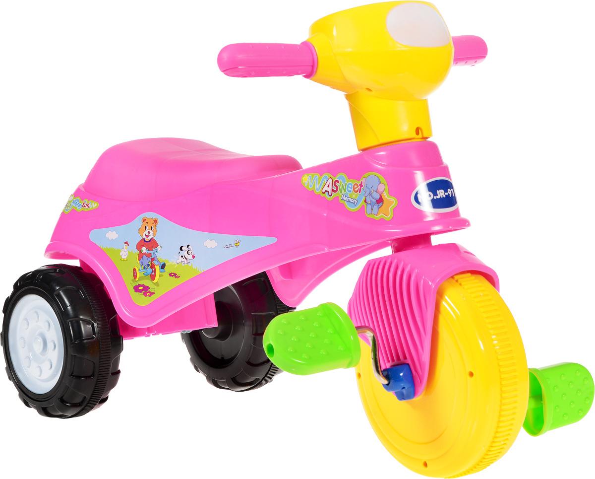 J.R. TOYS Велосипед детский Трицикл цвет розовый