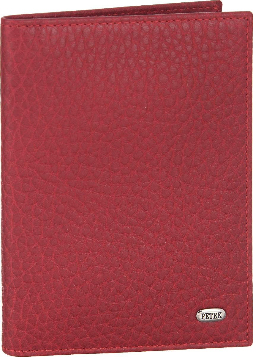 Обложка для автодокументов женская Petek 1855, цвет: красный. 584.46B.10AUTOZAM181Стильная обложка для автодокументов Petek 1855 изготовлена из натуральной кожи с зернистой фактурой. Лицевая сторона изделия оформлена небольшой металлической пластиной с гравировкой в виде названия бренда.Внутри изделия расположены четыре прорезных кармана для пластиковых карт, сетчатый карман и съемный блок для документов, включающий в себя шесть прозрачных файлов, один из которых формата А5. Изделие поставляется в фирменной упаковке.Обложка для автодокументов поможет сохранить внешний вид ваших документов и защитить их от повреждений, а также станет стильным аксессуаром.