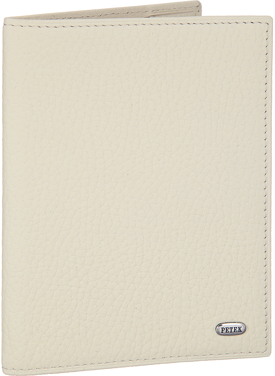 Обложка для паспорта Petek 1855, цвет: кремовый. 581.46D.84581.020.01 BlackСтильная обложка для паспорта Petek изготовлена из натуральной кожи с зернистой фактурой. Лицевая сторона изделия оформлена небольшой металлической пластиной с гравировкой в виде названия бренда.Изделие поставляется в фирменной упаковке.Обложка для паспорта поможет сохранить внешний вид ваших документов и защитить их от повреждений, а также станет стильным аксессуаром.