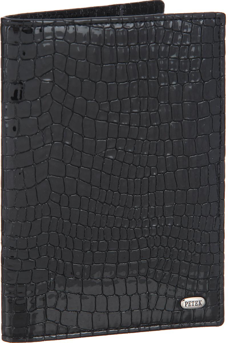Обложка для паспорта Petek 1855, цвет: черный. 581.091.01 - Обложки для паспорта