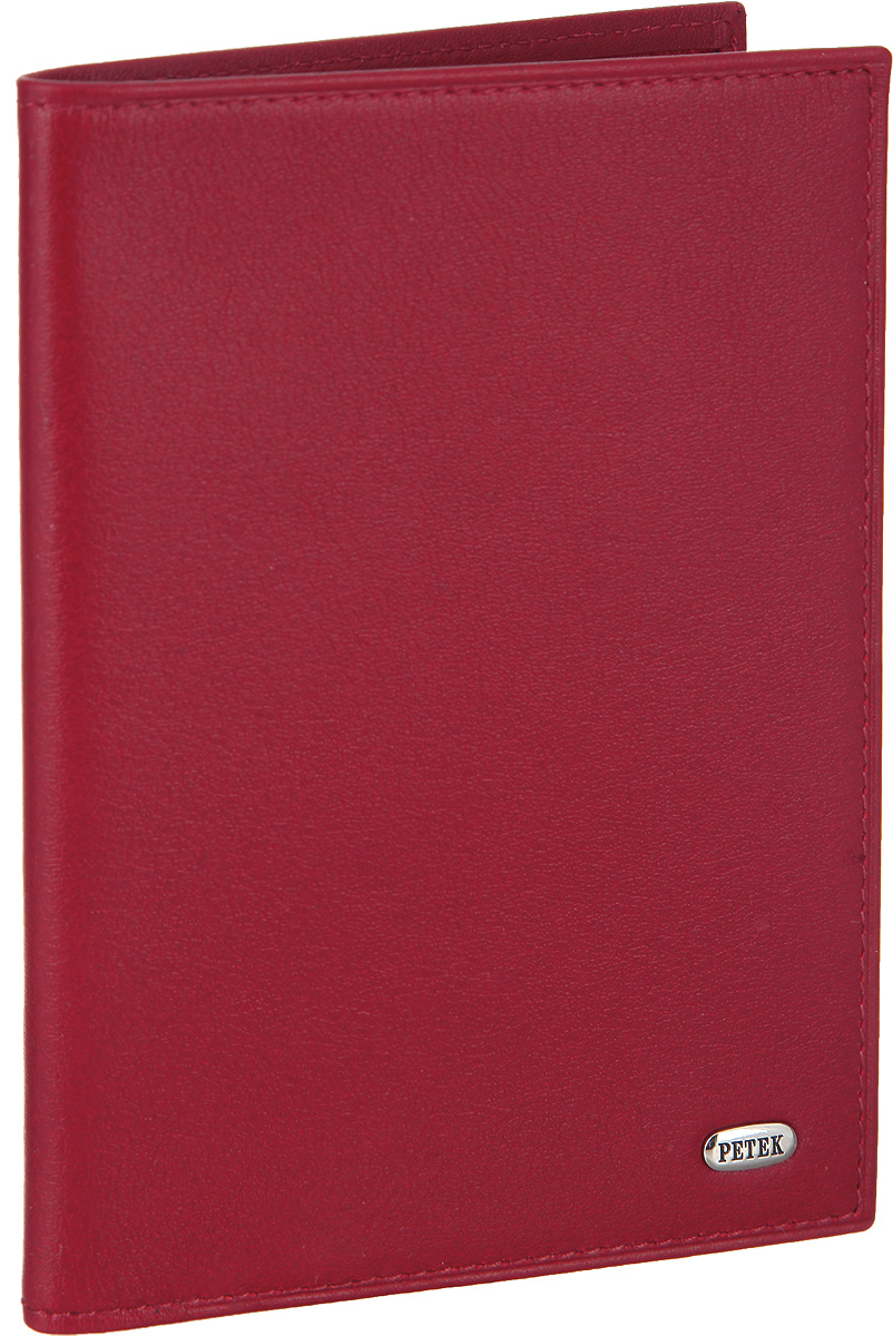 Обложка для паспорта женская Petek 1855, цвет: красный. 651.4000.1033544Стильная обложка для паспорта Petek изготовлена из натуральной кожи с гладкой фактурой. Лицевая сторона изделия оформлена небольшой металлической пластиной с гравировкой в виде названия бренда.Внутри изделия расположены: отделение для паспорта, сетчатый карман, три кармашка для пластиковых карт, один из которых сетчатый, и карман для мелких документов.Изделие поставляется в фирменной упаковке.Обложка для паспорта поможет сохранить внешний вид ваших документов и защитить их от повреждений, а также станет стильным аксессуаром.