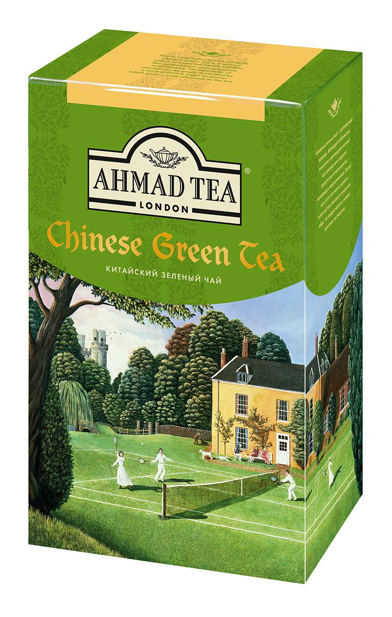 Ahmad Tea Китайский зеленый чай, 100 г1570-1Китайский зеленый чай Ahmad Tea - сокровищница природы. Благодаря особенностям технологии производства зеленый чай максимально сохраняет присутствие антиоксидантов, витаминов и микроэлементов. Легкий вкус этого чая можно украсить ложечкой тростникового сахара, меда, что придаст напитку нежное ореховое послевкусие.