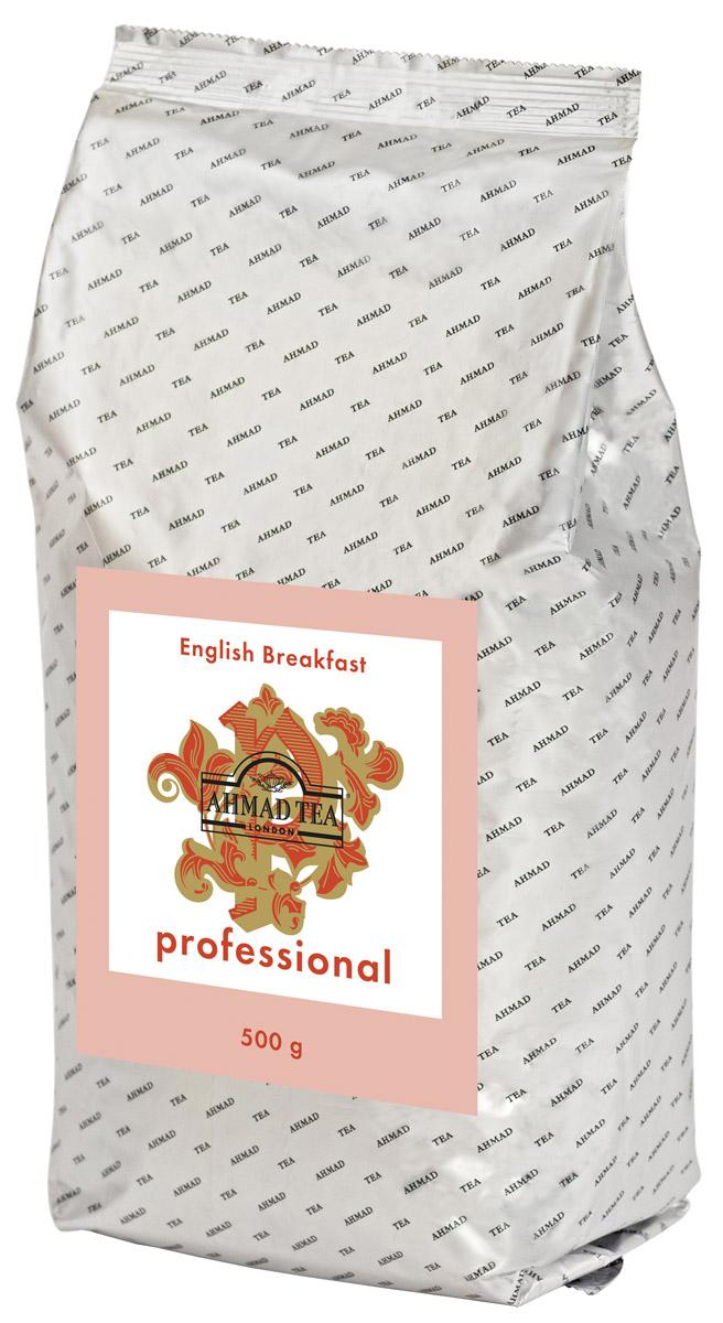Ahmad Tea Professional Английский завтрак черный листовой чай, 500 г8887290103398Ahmad Tea Professional Английский завтрак - купаж, который сочетает крепость Ассама, плотность кенийского чая и терпкость цейлонского. Метафорически титестеры сравнивают Английский завтрак со свежестью пробудившегося сада, когда в воздухе присутствует аромат трав, влажность утра и энергия нового дня. Если нужно принять решение или справиться с апатией – эта задача по плечу аристократу среди классических купажей – Английскому завтраку. Настой имеет золотисто-коричневый цвет. Вкус сбалансированный, зрелый, с явной солодовой нотой.