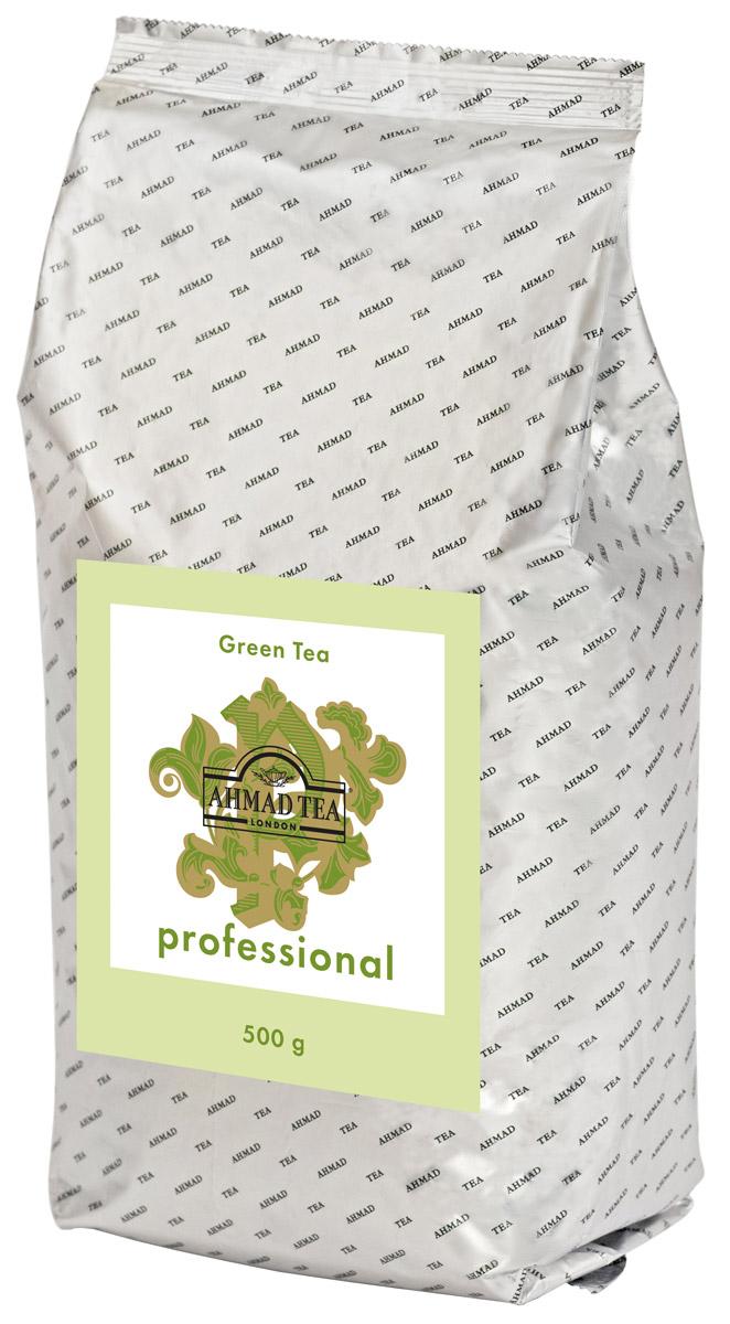 Ahmad Tea Professional зеленый листовой чай, 500 г1594Ahmad Tea Professional - купаж зеленого чая, произведенный по технологии Чан Ми: чайный лист скручивают вручную и затем сушат, при этом листик приобретает тонкую изогнутую форму. Цвет настоя золотисто-зеленый. Вкус свежий, сладкий, дынный, с горчинкой в послевкусии. Титестер Ahmad TeaВильям Мэннинг рекомендует: ложечка тростникового сахара добавит вкусу напитка оттенки карамели.