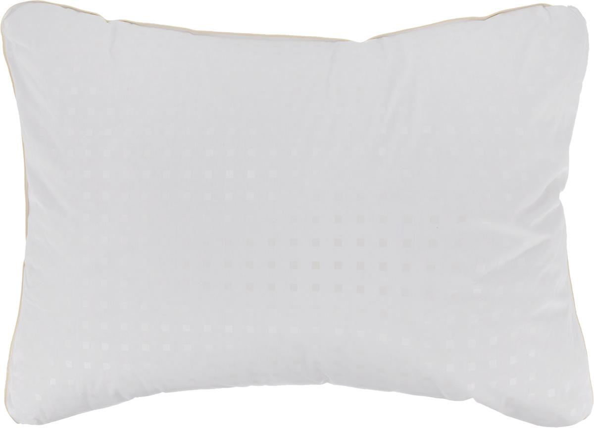 Подушка Легкие сны Афродита, наполнитель: гусиный пух категории Экстра, 50 x 68 смСуховей — М 8Подушка в традиционном исполнении Легкие сны Афродита поможет расслабиться, снимет усталость и подарит вам спокойный и здоровый сон. Изделие обеспечит комфортную поддержку головы и шеи во время сна.Подушка наполнена серым гусиным пухом категории Экстра, оно необычайно легкое, пышное, обладает превосходными теплозащитными свойствами. Распределение пуха способствует сохранению формы и воздушности изделия. Чехол подушки выполнен из прочного пуходержащего хлопкового тика с рисунком в виде мелких квадратов. По краю одеяла выполнена отделка атласным кантом.Рекомендации по уходу:Деликатная стирка при температуре воды до 30°С.Отбеливание, барабанная сушка и глажка запрещены.Разрешается обычная химчистка.Степень поддержки: средняя.