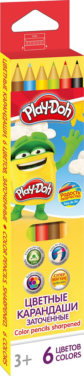 Play-Doh Набор цветных карандашей 6 цветов72523WDЦветные карандаши Play-Doh имеют эргономичный трехгранный корпус из розового дерева, который особенно удобен для маленьких детских ручек. Специальное покрытие и многослойная лакировка уменьшают скольжение карандашей в руках при их использовании. Рисование карандашами способствует развитию творческого мышления, мелкой моторики рук, фантазии и воображения вашего юного художника. Трехгранная форма корпуса каждого карандаша прививает навык правильно держать пишущий инструмент. Карандаши от Play- Doh безопасны для вашего ребенка. Рекомендуемый возраст от 3-х лет.